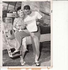 Lana Turner Tyrone Power candid 1947 VINTAGE Photo