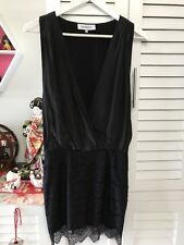 Maurie&Eve Black Dress 100% Silk Lace Super Gorgeous For Going Out With Heels