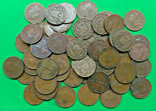 Lot of 55 Mixed Old Dominican Republic 1 Centavo Coins 1951-1975  !!