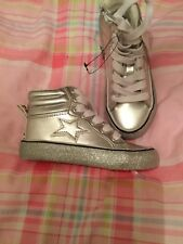 BNWT NEXT GIRLS HIGH TOPS BOOTS TRAINERS, SIZE UK 9 EUR 26.5