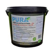 PURA® Fine COCONUT 2KG Activated Charcoal Powder BULK Bucket Activated Carbon