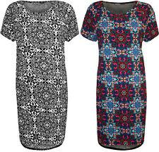 Polyester Short Sleeve Plus Size Scoop Neck Dresses for Women