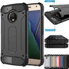 For Motorola Moto G4 G5 E4 Slim Dual Layer Armour Shock Proof Phone Case Cover