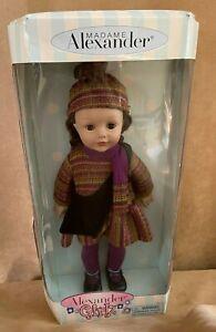 "18""  Alexander Girlz Doll Brown Hair & Eyes New in box Sweater Dress vinyl play"