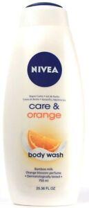 1 Count Nivea Care & Orange Bamboo Milk Orange Blossom Body Wash 25.36Fl oz
