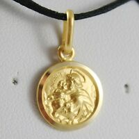 PENDANT MEDAL YELLOW GOLD 750 18K,SAINT ANTONIO FROM PADOVA 13 MM,MADE IN ITALY