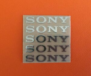 5 pcs Sticker for Sony Silver Logo TV PlayStation Game Laptop Desktop 30mm x 5mm