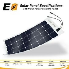 100W Flexible Authentic SunPower Brand Solar Panel Great for Marine and Camping