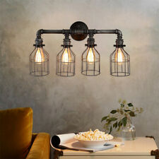 Rustic Steampunk Wall Light Iron Pipe Sconce Industrial Valve Wall Lamp Lighting