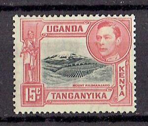 KENYA UGANDA TANGANYIKA KGVI SG137, 15c black & rose-red, MH