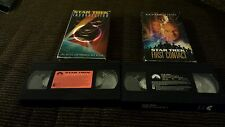 Star Trek: First Contact (VHS, 1997) and Star Trek: Insurrection  (VHS, 1999).