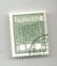 MARCA DA BOLLO LIRE 2 figlia italia  tassa sui contratti borsa francobollo stamp