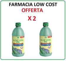 ALOE VERA + MIRTILLO puro SUCCO 1000 ML stock 2 pezzi ESI depurativa lenitiva