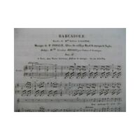 HUMANIDAD P. Barcarolle Chant Piano ca1840 partitura sheet music score