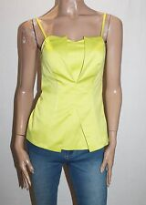 Portmans Brand Black Lime Colour Block Fitted Cami Top Size 8-XS BNWT #SK43