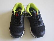 K-Swiss Boys kids tubes run 10 Running Shoes Black Neon Green Size 12 NEW