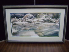 HOOKS WATERCOLOR SIGNED GLACIER RUNOFF Limited Edition Print numbered