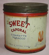 VINTAGE - SWEET CAPORAL - IMPERIAL TOBACCO CO. CANADA LTD.-  1/2#  ROUND TIN/CAN