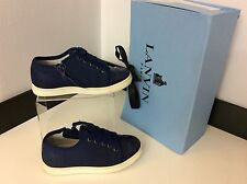 LANVIN TRAINERS SNEAKERS NAVY BLUE shoes Size 29, Uk Infant 11 Boxed RRP £200