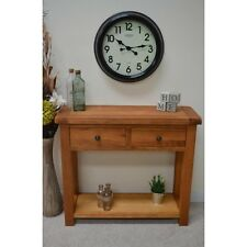 Oak Hall Console Table 2 drawers with Shelf / Hallway Telephone Table Beaufort