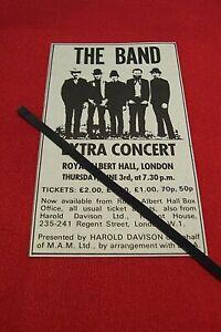 THE BAND 1971 ORIGINAL VINTAGE GIG CONCERT ADVERT ROYAL ALBERT HALL LONDON