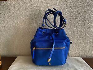 Lauren Ralph Lauren Nylon Debby II Drawstring Bag Blue
