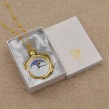 Sailor Moon 20th Anniversary Star Shaped Pocket Watch Necklace Jewelry Acessory