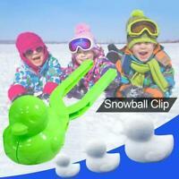 2Pcs Duck Snowball Clip Winter Snow Ball Maker Sand Mold Kids Sport Outdoor Toys