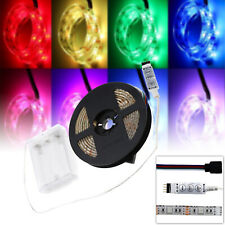 RGB LED 5V Strip Lights Waterproof Flexible Lamps + Battery Box + Controller 2m