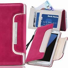 Handy Tasche Schutz hülle Wallet Case Flip Cover für Samsung Galaxy J3 2017 Pink