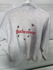 Vintage 90s Budweiser Spell-Out Crewneck Sweatshirt Large Made In The USA