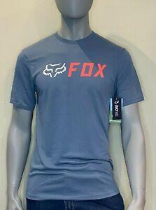 Fox Racing - T Shirt - Mens - Apex Tech Tee - Matte Blue - Fox Head