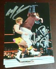 Road Dogg Billy Gunn New Age Outlaws Signed 1999 Wrestlemania Live PostCard WWE