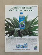 F098 - Advertising Pubblicità - 1992 - ATLAS , CON TENSIOATTIVI