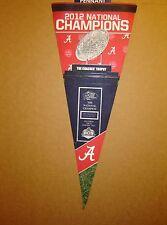 2012 University of Alabama National Football Champions NCAA Pennant