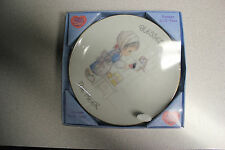 """Precious Moments 6-1/2"""" Procelain Plate By Enesco - """"Blessed Are The Meek"""" - New"""