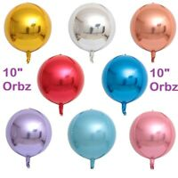 "Satin Silver Orbz Balloon 22/"" Sphere Matte Silver Orbz Foil Globe Balloon"