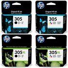 HP 305 / 305XL Noir & Tricolor Cartouche d'encre  - faites votre choix -