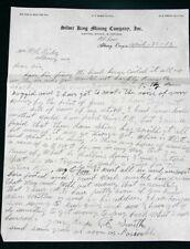 1912 Silver King Mine Letter/cover from Oregon Miner w Rare Elkhorn DPO postmark