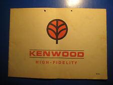 KENWOOD KR-33L Bedienungs Anleitung 1960 60er vintage Radio Receiver rar Gebrauc