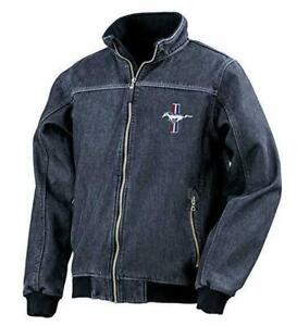 Official Ford Mustang GT 50 years Crest Stonewashed denim softshell jacket