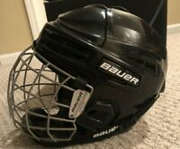 Bauer IMS 5.0 Ice Hockey Helmet with Cage And Chin Guard Black Size Medium