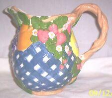 Pitcher C238 17.1802 Ceramic Fruit 'n Lattice Pitcher
