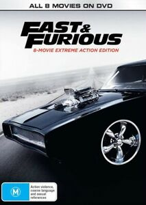 Fast and Furious Box Set Complete 8 Movies 1-8 : NEW DVD