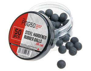 50x Steel hardened Rubber Balls Paintball Shooting 50 Cal. UMAREX HDR RAM T4E