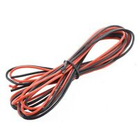 2 x 3M 16 Gauge AWG Silikon Gummi Draht Kabel - Rot & Schwarz DE J2I4