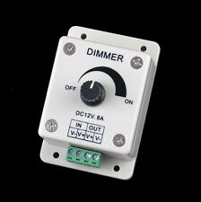 DC 12V 8A LED Light Protect Strip Dimmer Adjustable Brightness Controller US1WO