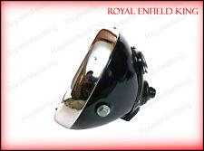 "Head Light Lamp 8"" Flat Glass Miller BSA Norton Triumph Vincent With Panel"