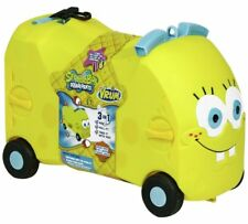 Spongebob Squarepants 3in1 Ride On Toy Box Suitcase Bag Trolley Luggage Travel