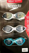 3x Speedo Unisex Adult Swimming Goggles | UV Protection | Anti Fog Brand New
